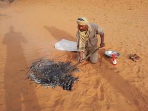 pane sotto la sabbia