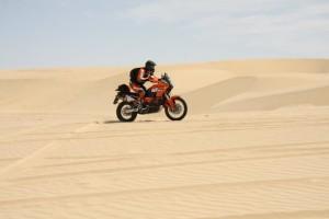 moto nel deserto