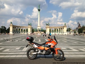 KTM at Heroes square budapest