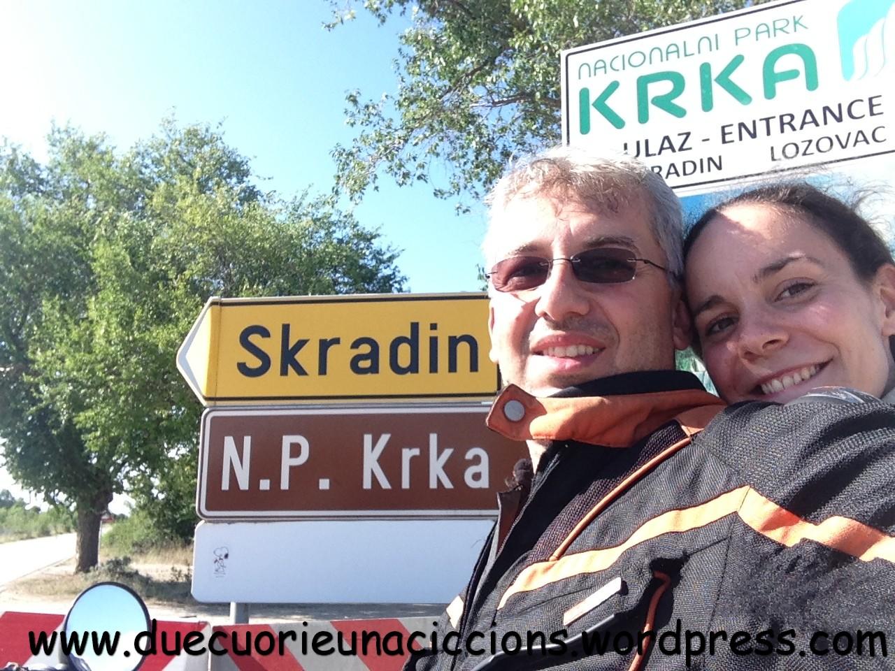 I Due cuori arrivano a Krka